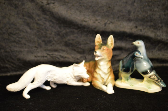 3 Porcelain Figurines