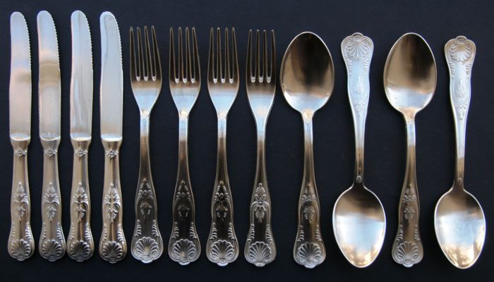 Antique Silver Plated Cutlery Set European Late 19th Century & Antique Silver Plated Cutlery Set European Late 19th Century ...