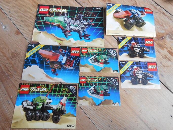 Space Police - 6955 + 6897 + 6895 + 6886 + 6852 + 6813 + 6831