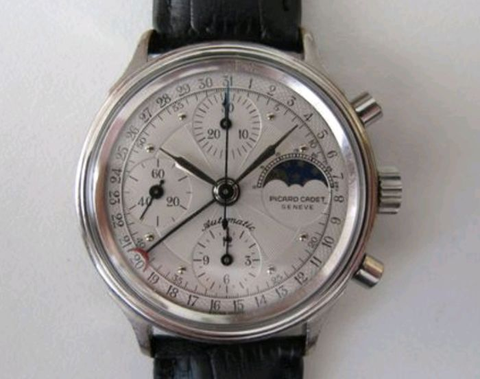Picard Cadie Geneve - Chronographe Triple Calendrier Moonphase - Men - 1990-1999