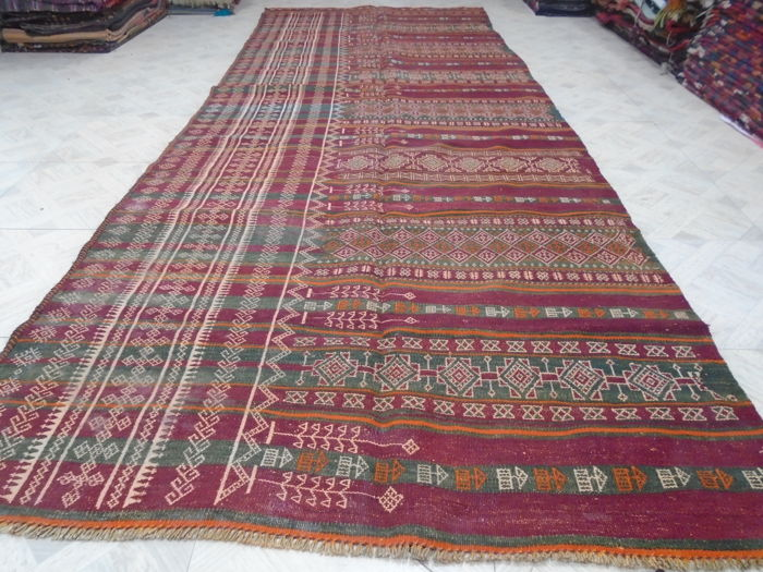 Irani Persian Kilim Hand Made 349 x 133 cm