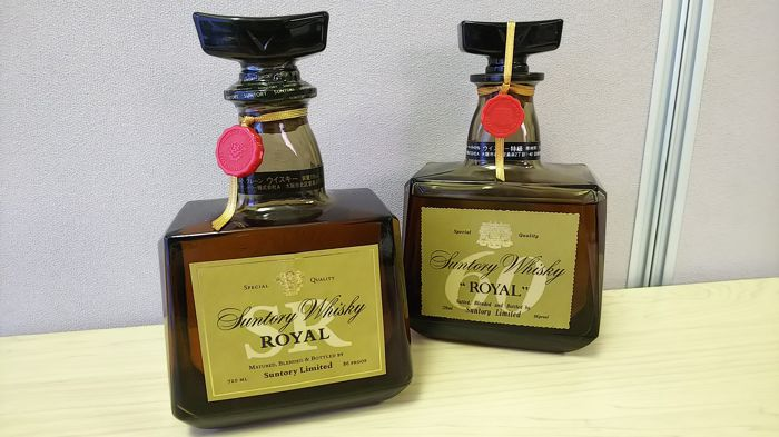 2 bottles - Suntory Whisky Royal 86 proof and Suntory Royal Special Reserve - 60th Anniversary Limited Whisky 86 proof