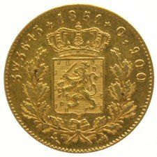 Nederland - 5 Gulden of ½ Negotiepenning 1851 (R)  Willem III - goud