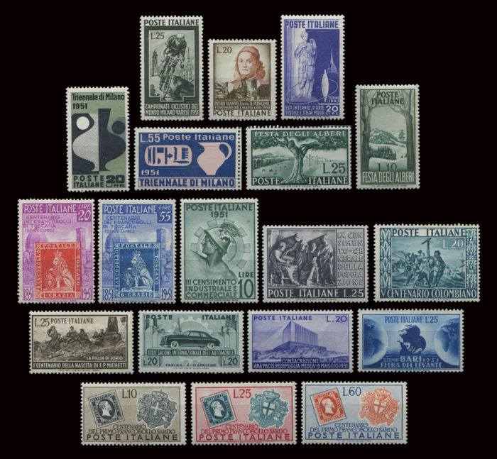 Italy Republic  1951 -  13 Serie complete  - Sassone NN. 655/S153