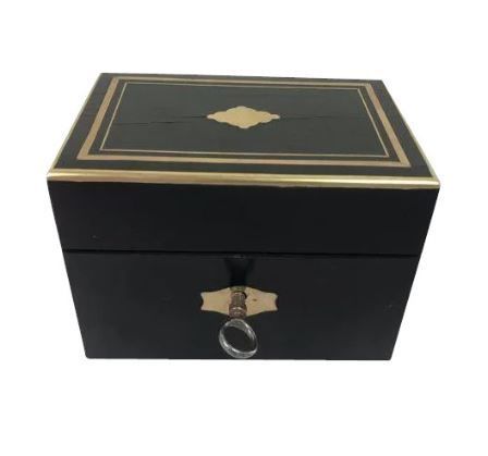 Napoleon III money box ebonised rosewood - France - Ca. 1880