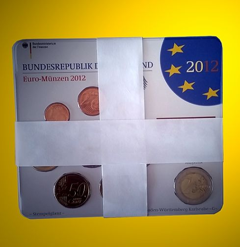 Germany Euro Set 2012 A D F G J Including 5 X 2 Euro Bayern