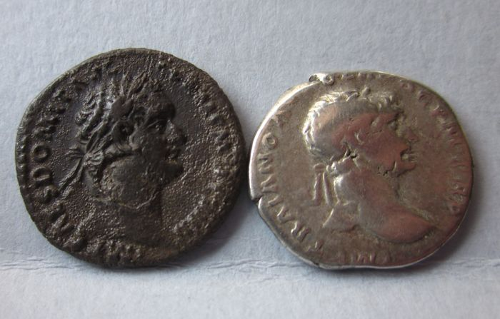 Roman Empire - Lot of 2 AR Denarius: Domitianus (81-96) / Trajanus (98-117) (2x)
