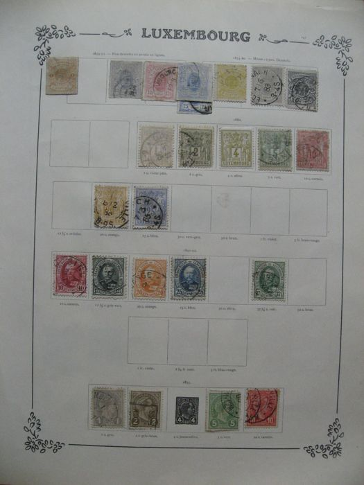 World 1860/1925 - Collection of world stamps including Switzerland, Luxembourg and Netherlands