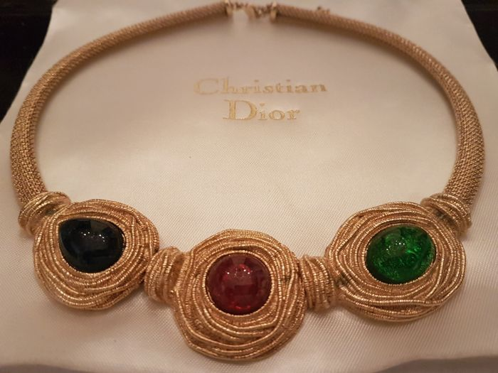 Christian Dior vintage Haute couture necklace Paris 1960-1965