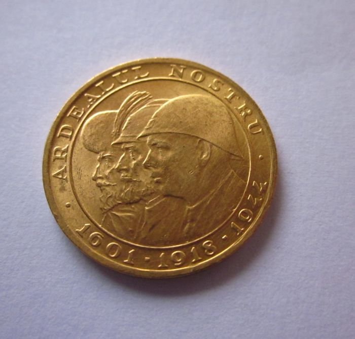 Romania - 20 Lei 1944 'Romanian Kings' - gold