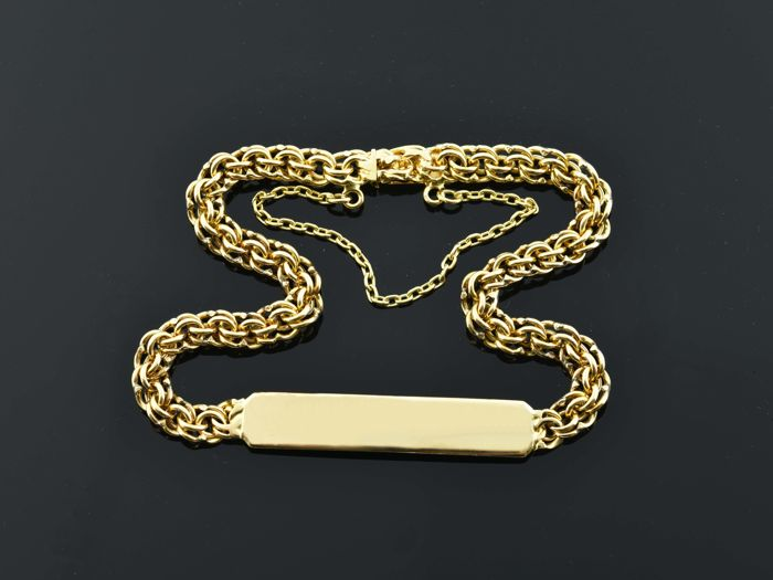 18 kt gold Bracelet Length 19.5 cm Weight: 10.95 g