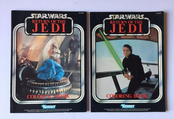 Star Wars - Vintage Colouring books 2x - (1983)
