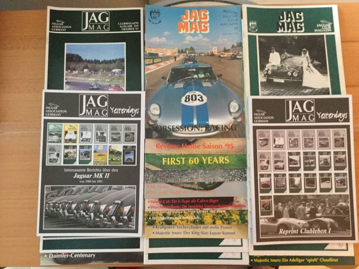 30 x Jaguar magazines - Rarities & 2 special editions