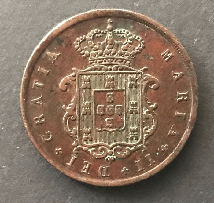 Portugal Monarchy - D. Maria II ( 1834-1853 ) - X Reis - 1952 - Copper