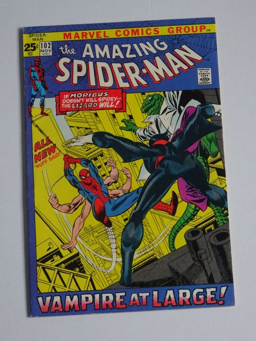 Amazing Spider-Man #102 - 2nd Appearance of Morbius the Living Vampire -  Beautiful Book with Glossy front cover fully intact tight staples