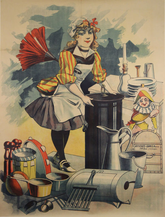 Affiches Camis - Maid before text - circa 1900