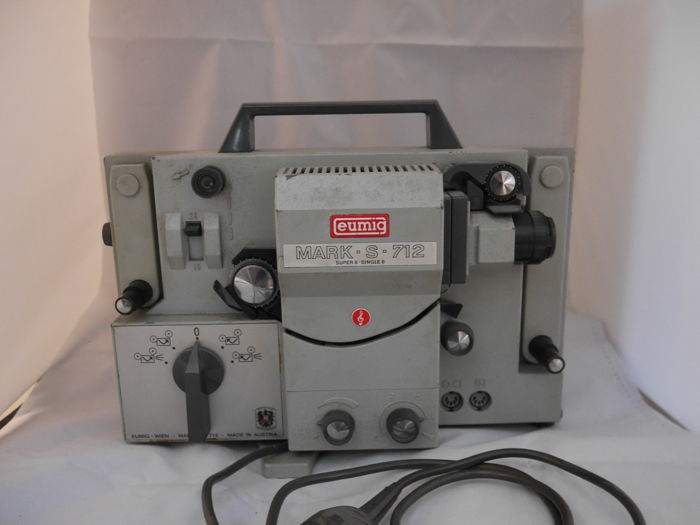 "Super 8 projector ""EUMIG MARK S-712"" film projector - vintage"