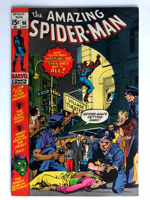 Marvel Comics - The Amazing Spider-Man #96 - Green Goblin - Drug Issue not approved by the CCA - 1x sc - (1971)