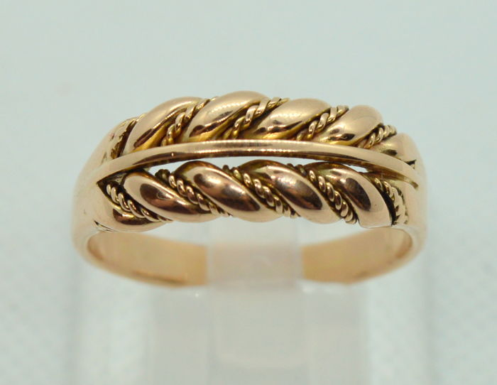 14K / 585 Men's Gold Ring - total weight 9.07 gr - US 11.5 (21.1 mm)