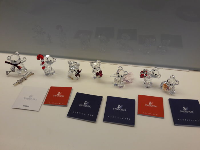 Swarovski Kris Bear lot (7) - 5222231 - 213068 - 234710 - 1096731 - 905788 - 905386 - 833420
