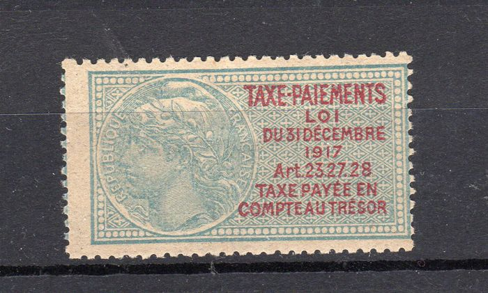 France 1918 - Tax on payments, not issued, signed Calves - Yvert n° 23