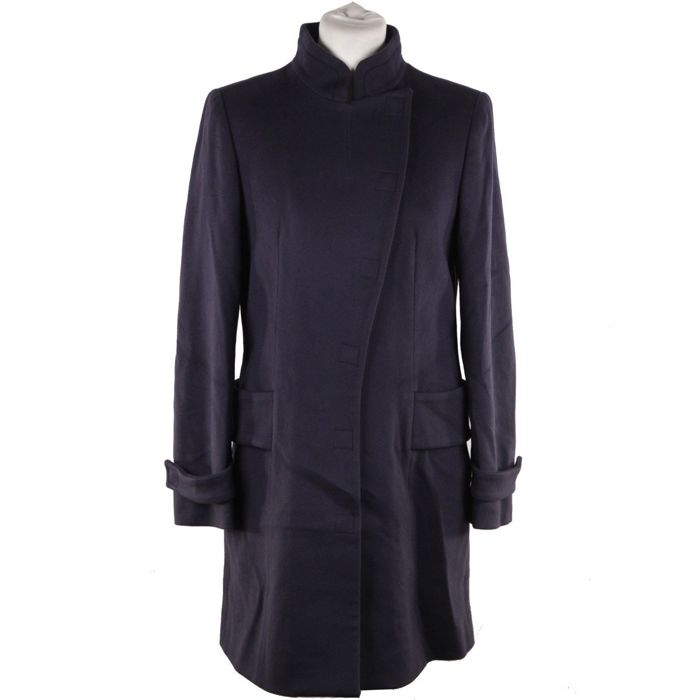 Versace - Italian Blue Wool Coat 2008 Fall Winter Collection