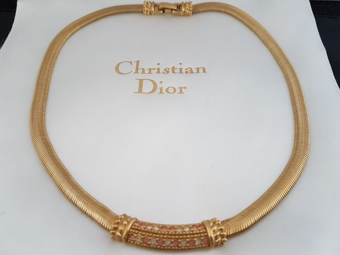 Christian Dior - gouden toon ketting - Vintage