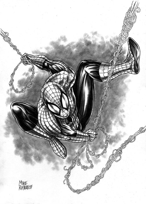 SPIDERMAN by Mike Ratera - Original Drawing