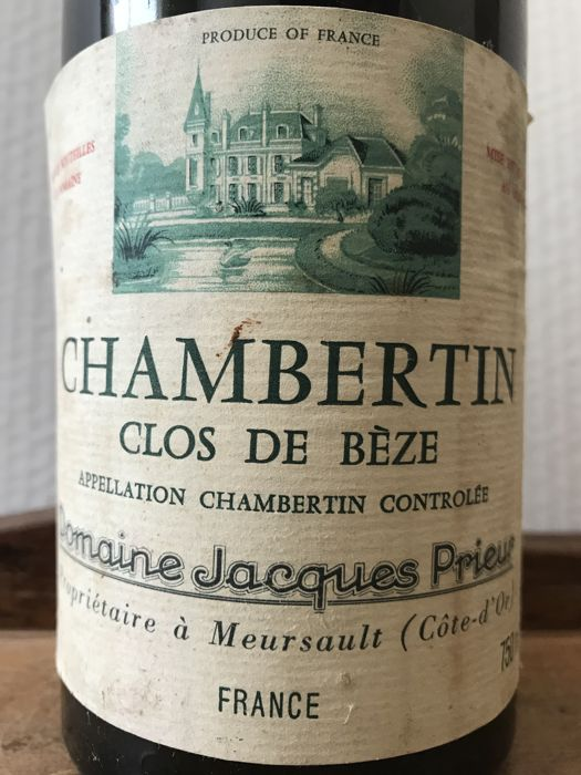 1979  Chambertin Clos de Bèze Grand Cru Domain Jacques Prieur- Total 1 Bottle