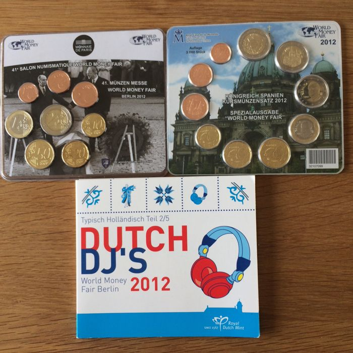 Europa - Muntsets 2012 'World Money Fair Berlijn' (3 stuks)