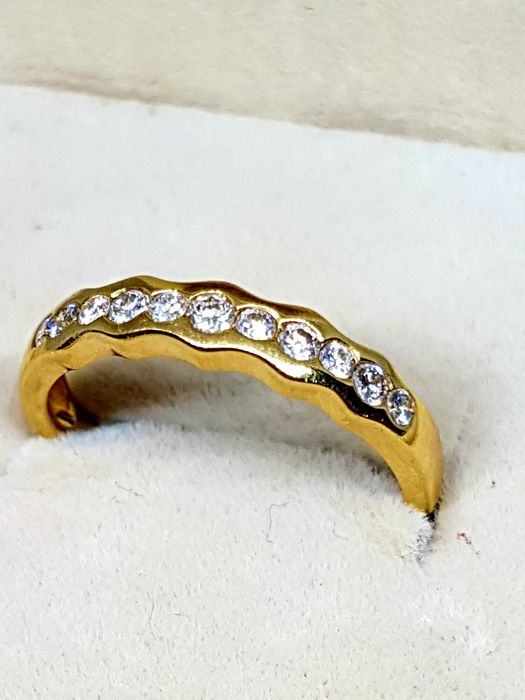 18 kt gold ring with diamonds - 0.55 ct in total - Size 15 (Spain) - No reserve price