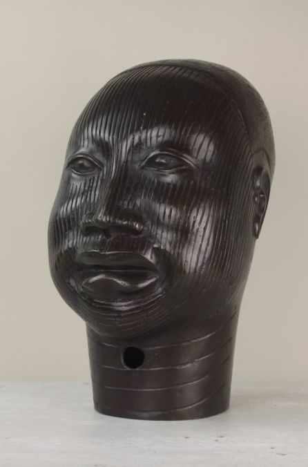 Gorgeous life size head in the style of an Oni - IFE - former Kingdom of Benin-Nigeria