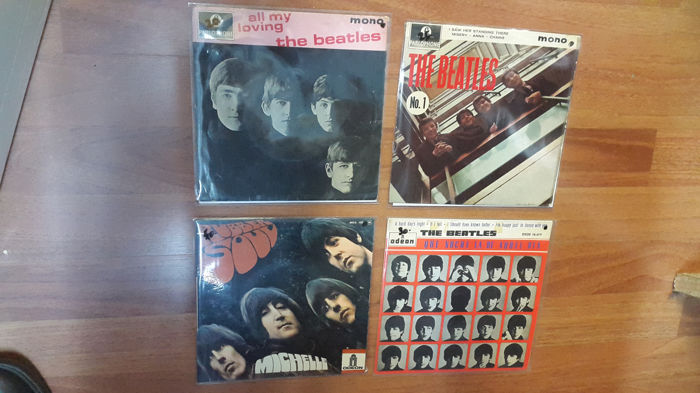 The Beatles - 45 rpm vinyl record - Michelle + A hard day's night if i tell + 45 rpm vinyl record - All My Loving + The Beatles No. 1