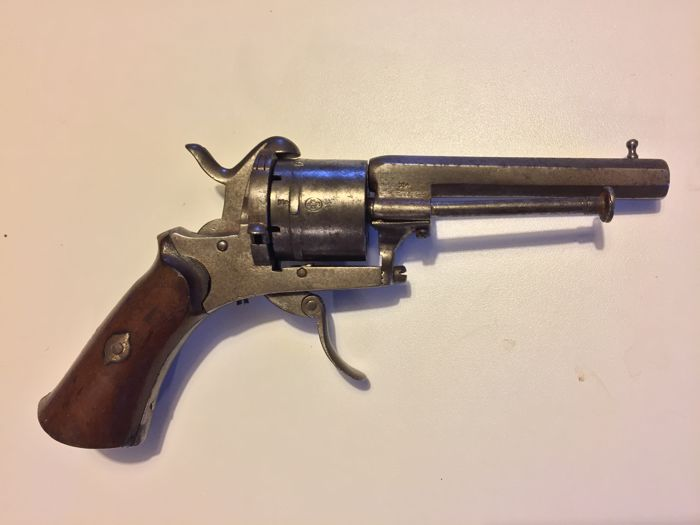 revolver pin fire system lefaucheux 7 mm