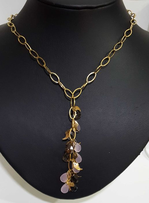 18 kt gold necklace, 45 cm + 8 cm weighing 9.69 g
