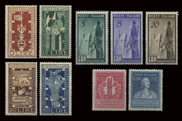 Italy Republic  1949 - 3 Serie complete  - Sassone NN. S137; S138; S139
