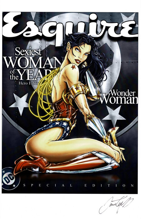 WONDER WOMAN - Esquire Magazine Cover - Hand Signed Limited Edition Poster - Jamie Tyndall