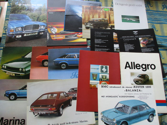 Car folders (Britsh Leyland, including Vanden Plas/Morris/Austin/Princess, 16x, 1964-2001)