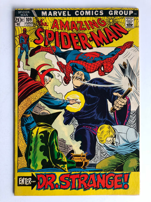 Marvel Comics - The Amazing Spider-Man #109 - Dr Strange! - 1x sc - (1972)