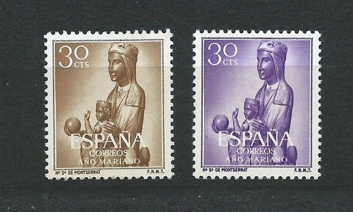 Spain 1954 - Colour error with authenticity report (Graus) – Specialised Edifil 1135cc