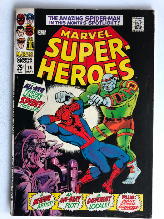 Marvel Comics - Marvel Super-Heroes #14 - 1st Kirby Art at Marvel - 1x sc - (1968)