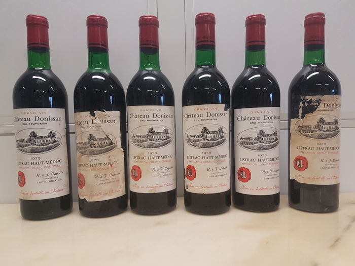 1973 Chateau Donissan, Listrac-Medoc Cru Bourgeois - 6 bottles