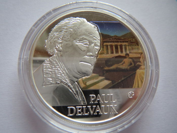 Belgium - 10 Euro 2012 'Delvaux' - Silver and colour