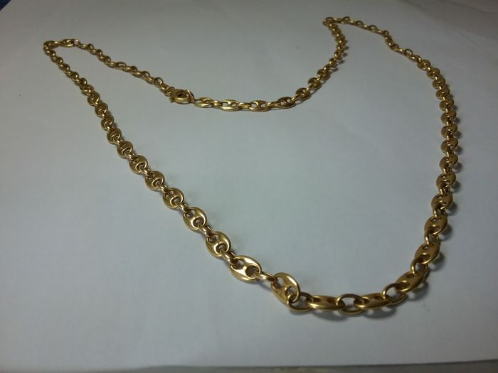 Solid gold cable link necklace
