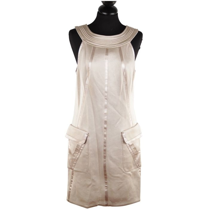 Versace - Italian Beige Halter Shift Dress 2006 Fall Collection