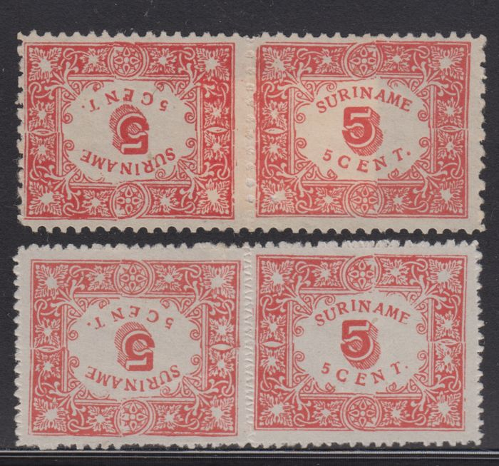Suriname 1909 - Aid issue - NVPH 58a/59a