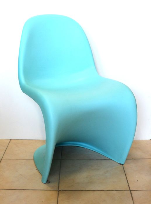 Designed by Verner Panton for Vitra - Chair - Colour: Turquoise