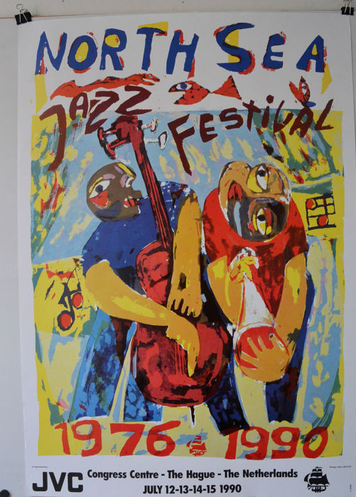 North sea jazz Festival, The Hague,  1990, Art poster Fifteenth anniversary