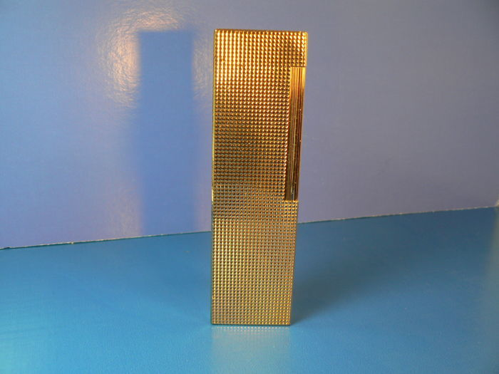 Dupont table lighter, gold plated, diamond tips