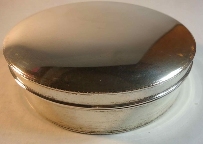 Art deco jewellery box in solid silver (eagle puncture) Portugal after 1938